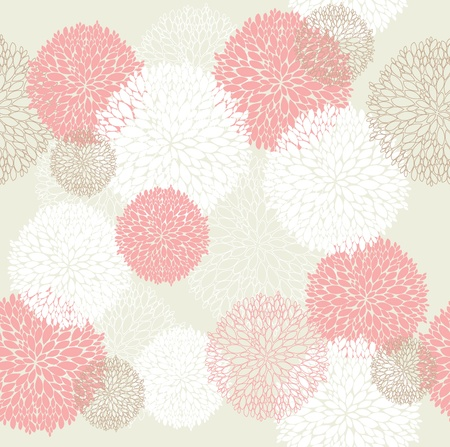 paeony: Seamless spring floral pattern