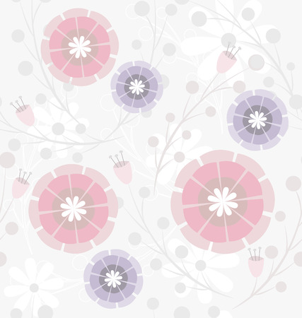 Seamless spring pastel floral pattern Stock Vector - 9087385