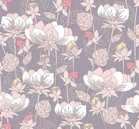 Nahtlose Pastell Blumenmuster. Hintergrund mit Blumen