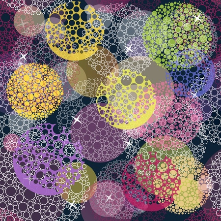 Abstract cute seamless polka dot circle background pattern. Illustration
