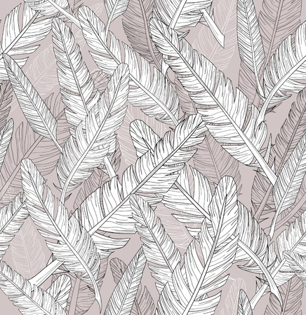 Abstract feathers pattern. Seamless pattern. Vector
