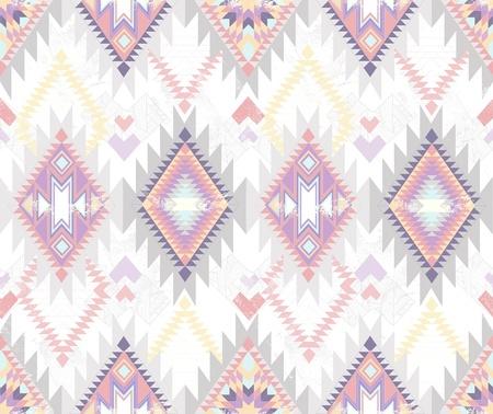 aztec: Abstract geometric seamless aztec pattern  Colorful ikat style pattern
