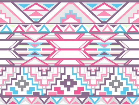 Abstract geometric seamless aztec pattern  Colorful ikat style pattern Stock Vector - 14911552