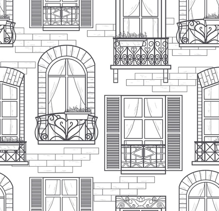 seamless pattern ventanas integradas