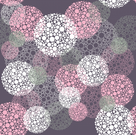 round dot: Abstract seamless polka dot circles pattern