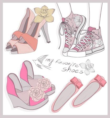 urban youth: Fashion shoes set