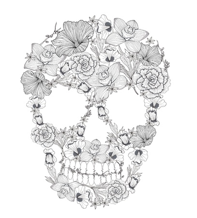 voodoo: Skull from flowers