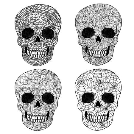 all saint day: Ornament skull set
