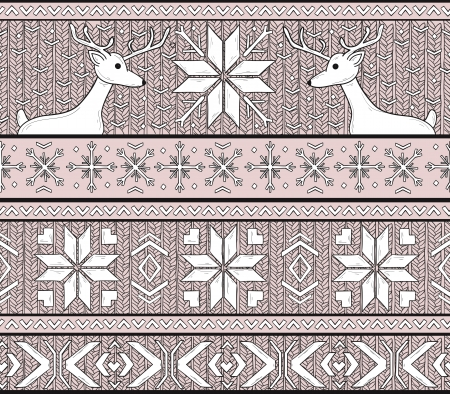 Hand Drawn Seamless Knitted Background In Fair Isle Style With ...