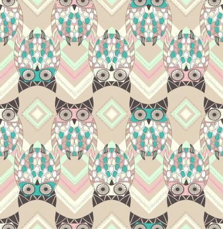 owlet: Lindo b�ho sin patr�n con elementos nativos