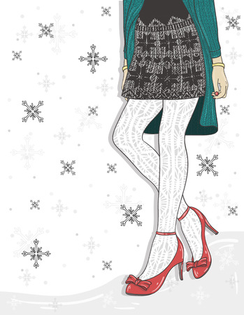 wintermode: Netter Winter Mode-Hintergrund