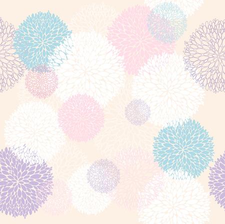 抽象的な花柄の花を持つシームレスなパターン