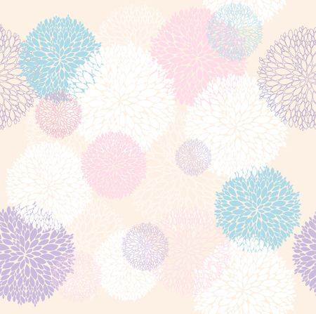 paeony: Abstract floral pattern  Seamless pattern with flowers