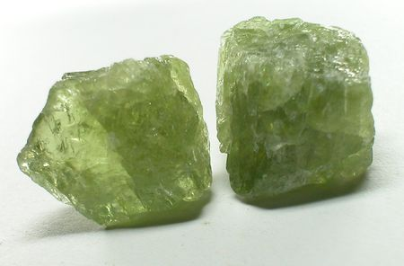 spinel: Apatite Green rough gemstones Stock Photo