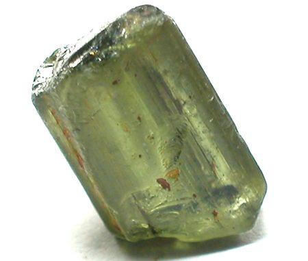 tourmaline: Green tourmaline rough gemstone crystal