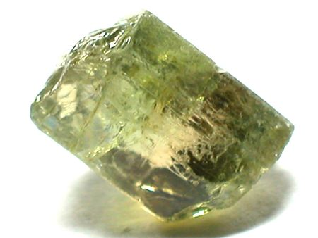 scapolite: Light green tourmaline gemstone Stock Photo