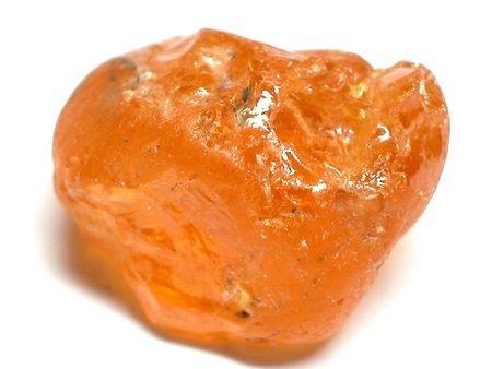 granate: Mandarin Garnet �spera de piedras preciosas Foto de archivo