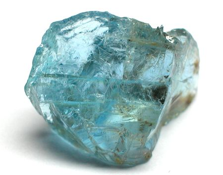tanzanite: Aquamarine rough gemstone