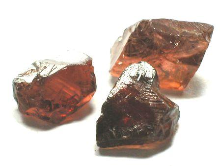 Rodolite garnet rough gemstones photo
