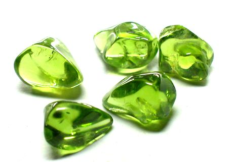beryl: Peridot tumbled & polished Stock Photo
