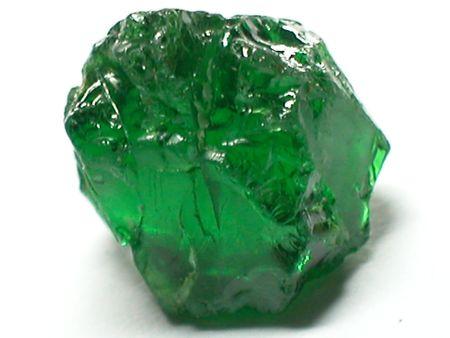 tsavorite: Tsavorite Garnet rough gemstone Stock Photo
