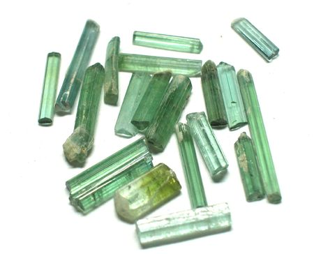 gemstones: Mixed tourmaline rough gemstones Stock Photo