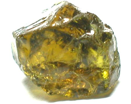 amethyst rough: green tourmaline