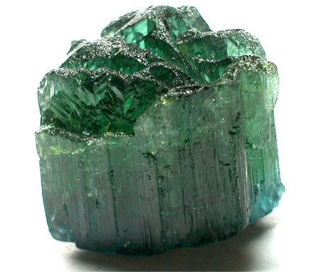 beryl: Green tourmaline Stock Photo