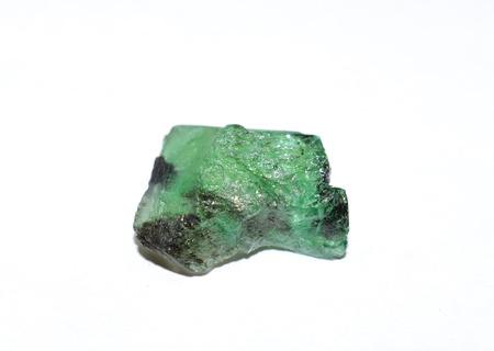 emerald: Emerald rough gemstone disc
