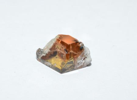 rough diamond: Imperial Topaz Stock Photo