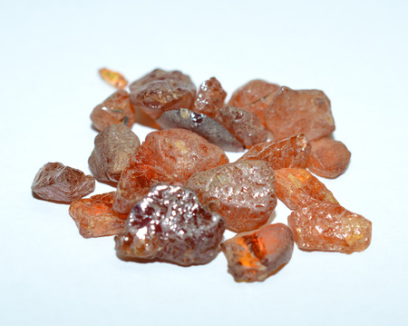 opal: Fire opal rough gemstones mixed Stock Photo