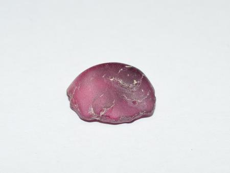 Pink tourmaline rough gemstone crystal Stock Photo