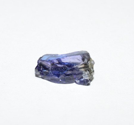 tanzanite: Tanzanite rough gemstone crystal Stock Photo