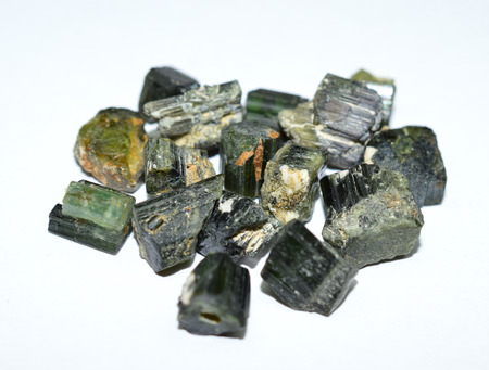 green tourmaline: Green mixed tourmaline rough gemstones