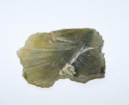 green tourmaline: Green tourmaline rough gemstone disc