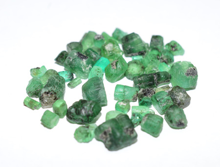 gemstones: Emerald rough gemstones