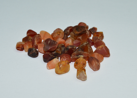 Carnelian tumbled gemstones