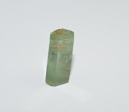 Aquamarine polished crystal Stock Photo