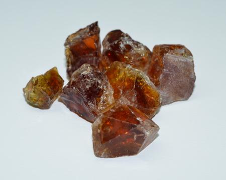 Citrine rough gemstones