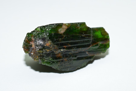 green tourmaline: Green tourmaline rough gemstone Stock Photo