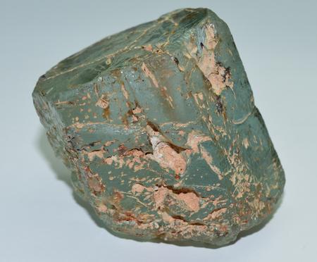 Aquamarine rough gem crystal Stock Photo