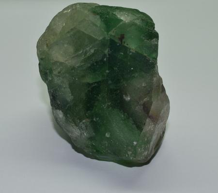Fluorite raw gem crystal green