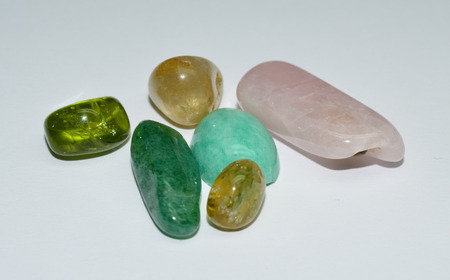 tumbled gemstones Stock Photo