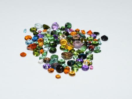 Facet cut gemstones