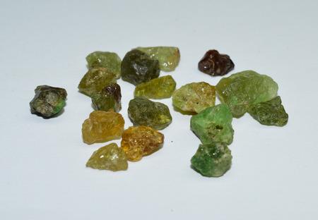 scapolite: Green Garnet Stock Photo