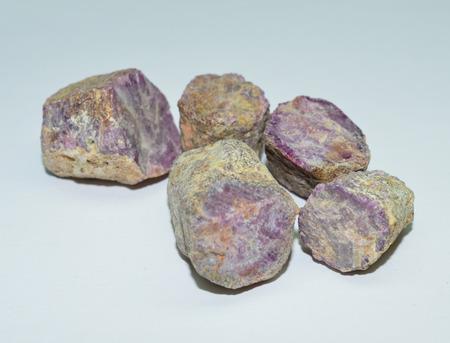 scapolite: ruby rough gemstones