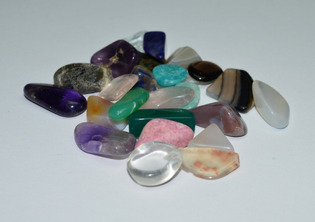 scapolite: tumbled gemstones Stock Photo