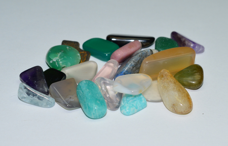 scapolite: tumbled Quartz Stock Photo