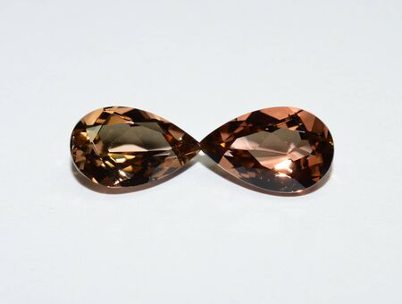 Tourmaline pair faceted
