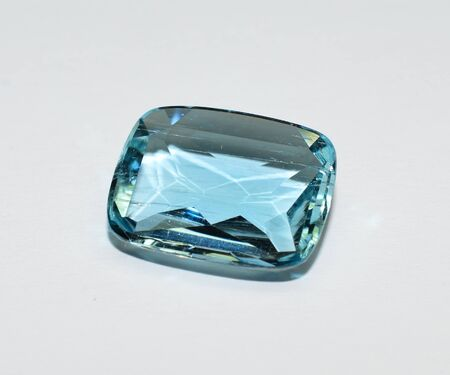 Aquamarine gemstone faceted